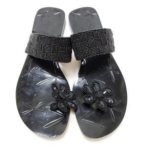 Anne Klein Beaded Sandals sz 8